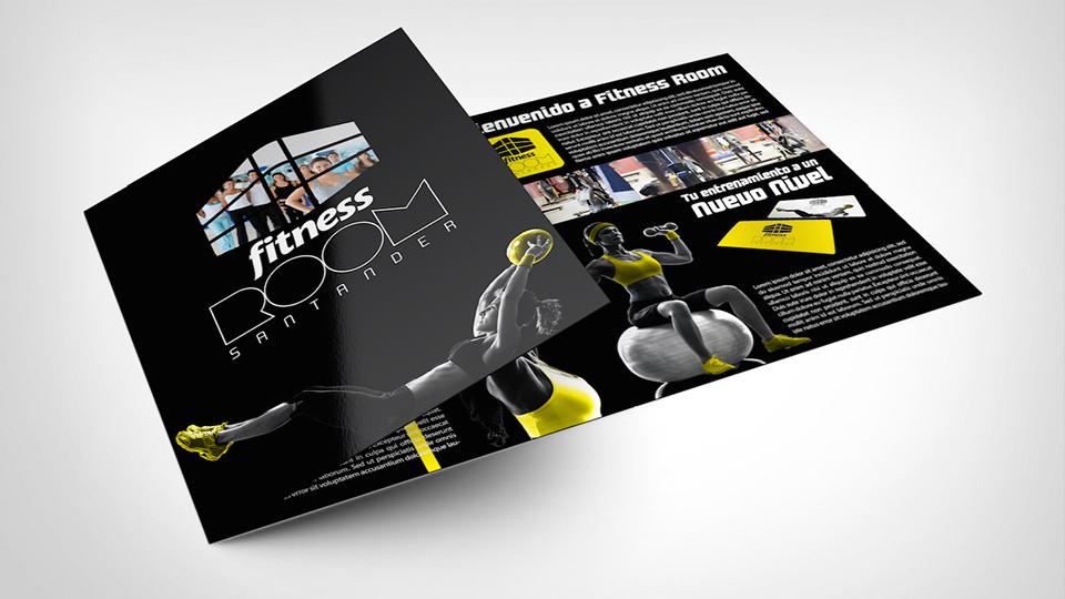 Propuesta de Triptico Fitness Room Santander