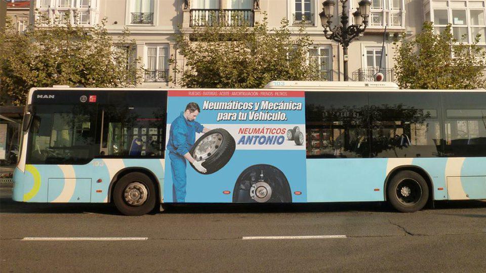 Creatividad autobús Santander